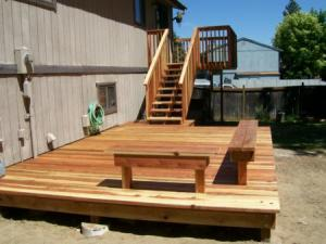 a beautiful outdoor deck constructed in Tracy